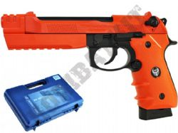 HGC193 M92 Tactical Replica CO2 Blowback Airsoft BB Gun 2 Tone Orange Black Metal Slide